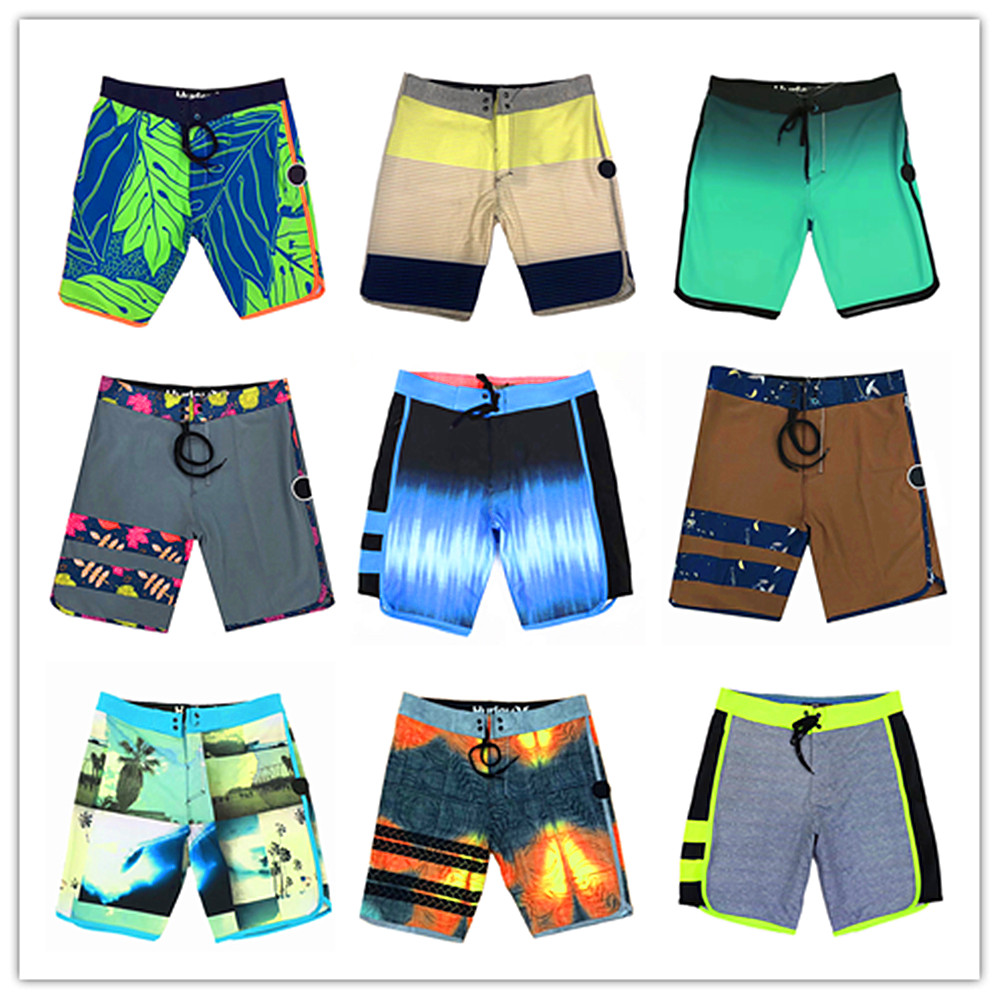 Summer 2019 Bermuda Brand Phantom Elastic Spandex Beach   Board     Shorts   Men Swimsuit 100% Quick Dry Boardshorts Mens Hawaiian   Short