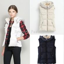 Женщины жилет зима марка мех закрытый воротник без рукавов пальто пэчворк хлопок мягкий толстый Colete Feminino S-XXL 5014