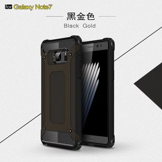 Hot Shockproof Armor <font><b>Phone</b></font> <font><b>Case</b></font> Hard PC+Soft Silicon 2 in1 Back Cover Capa On For Samsung Galaxy Note 4/Note 5