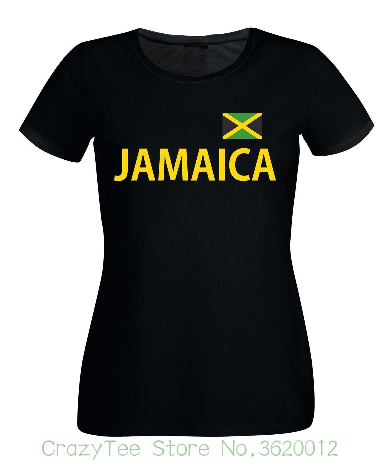 Womens Tee Jamaica Ladies T-shirt - Black Or White - S To Xl - Jamaica Holiday Caribbean Female Tshirt 2018 Summer