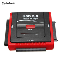 EU / US Plug USB 3.0 to IDE SATA Cable 2.5/ 3.5inch HDD Hard Drive CD ROM DVD ROM COMBO Multifunction Converter OTB Cable