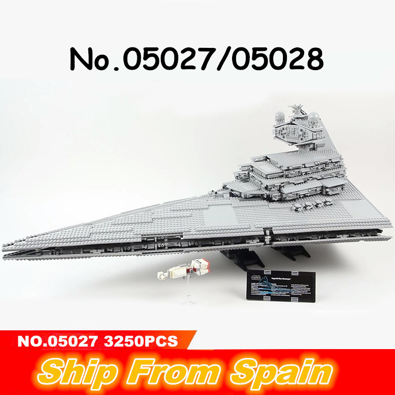 05027 05028 05035 Star Plan Wars death Designer Fighters Ship UCS Imperial Star Destroyer 10030 10188