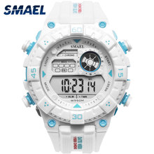 Weiß Uhr Sport Uhren für Männer Wasserdichte SMAEL Mens Armee Uhren Military Digitale 1439 Sport Quarz Digitale Uhr Männlichen Uhr