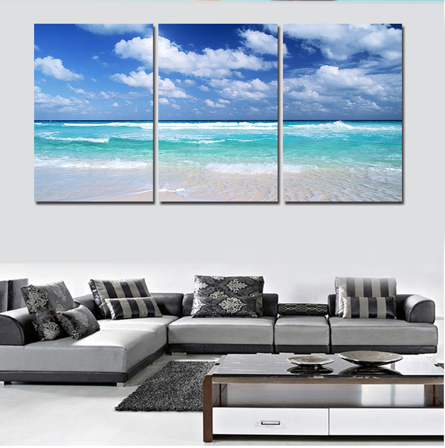 2017 3 Panels Artwork Canvas Painting Wall Art For Living Room Wall ...