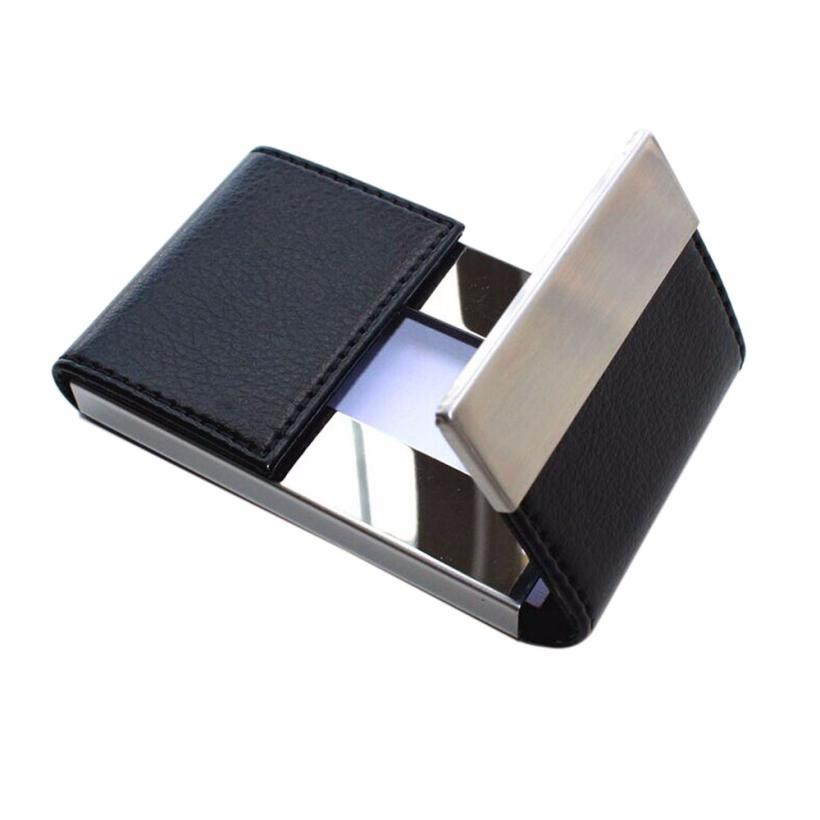 Walllet Men Women Traveling Metal Wallet Credit Card Package Card Holder Double Open Business Card Case Porte Carte #Y 2018 pu leather unisex business card holder wallet bank credit card case id holders women cardholder porte carte card case