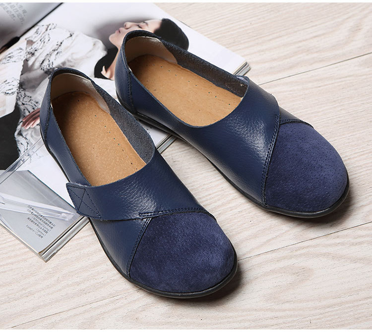AH 1987-2019 Spring Autumn Women's Shoes Genuine Leather Woman Loafers-6