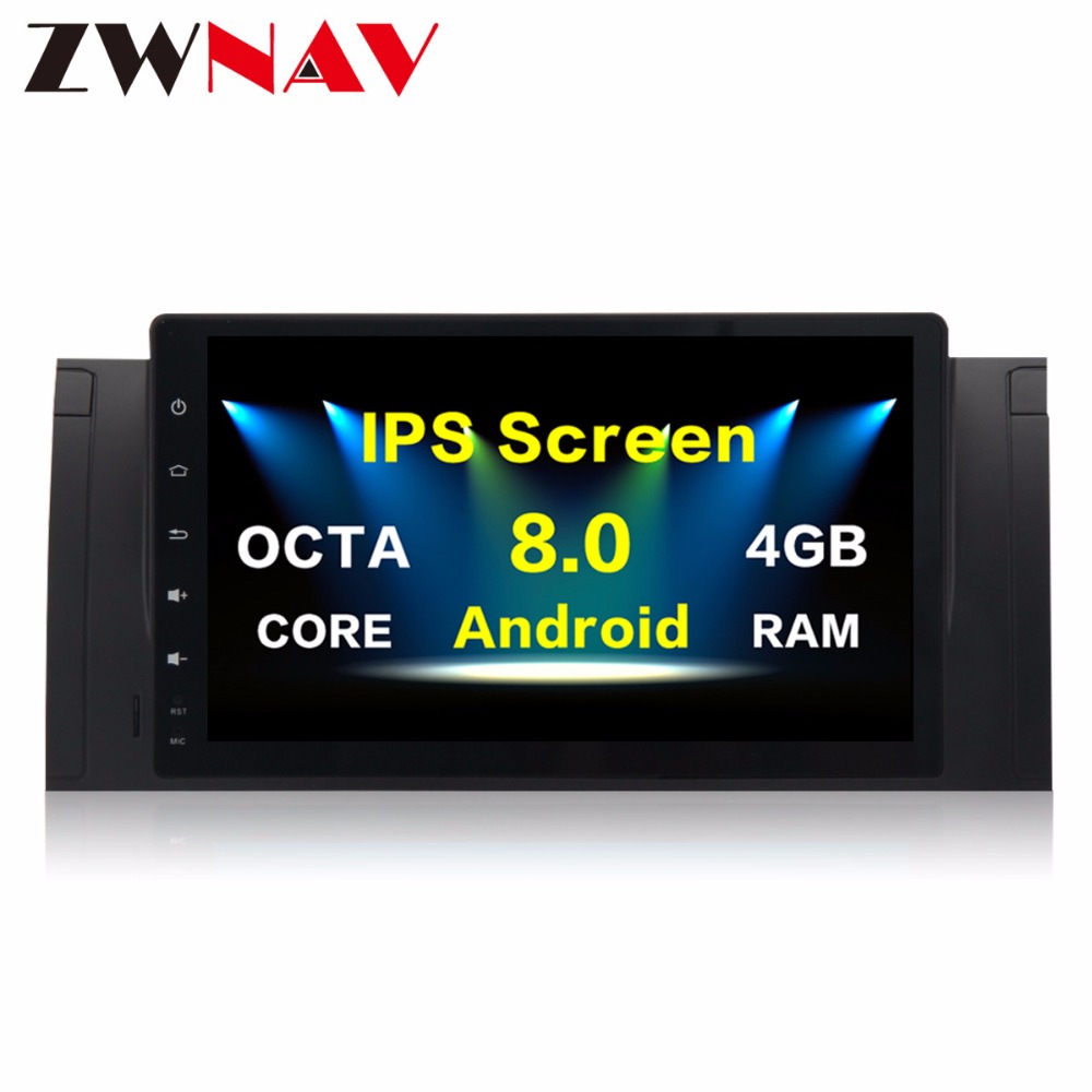 The Newest Octa Core Android8.0 GPS Multimedia Auto Stereo Car Radio HIfi Music Car No DVD Player For BMW 5 E39 Series 2002-2003