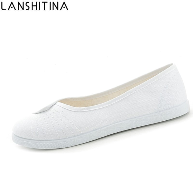 2017 New Fashion women Canvas shoes White Nurse Beautician Working shoes Slip-On Comfortable casual Flat shoes 2017 new women shoes fashion stud canvas shoes women causal shoes comfortable slip on shoes for women slipony ag11