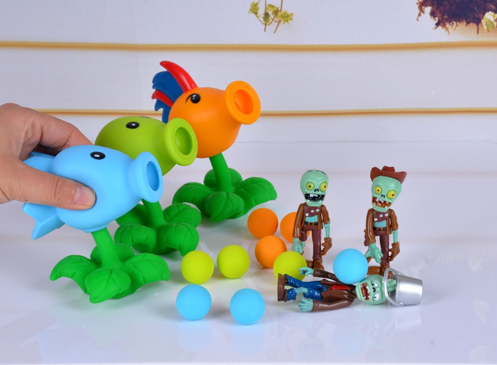 Hot sale 23 Style New Popular Game PVZ Plants vs Zombies Peashooter PVC Action Figure Model Toys 10CM Plants Vs Zombies Toys image