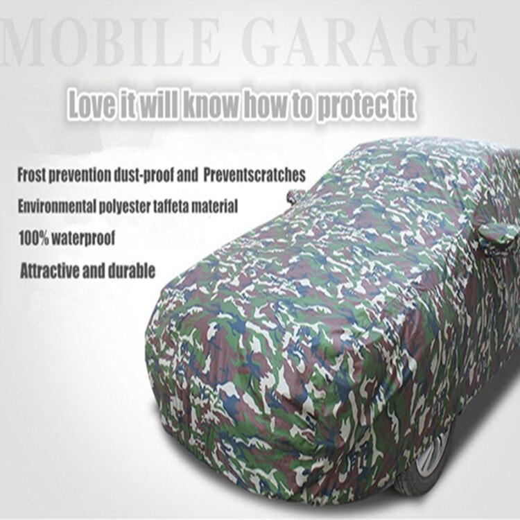 Bâche de voiture imperméable matérielle d'ombre de soleil d'oxford de haute qualité, couleur automatique de camouflage de parapluie, vêtements portatifs de voiture, vente d'usine
