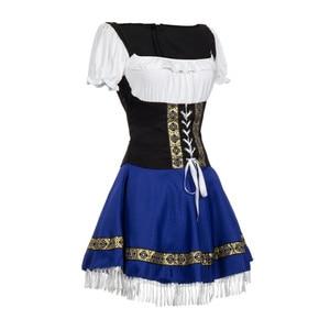 Image 4 - נשים מסורתית גרמנית בוואריה באר ילדה תלבושות סקסי אוקטוברפסט בחורה פנטזיה המפלגה תחפושת