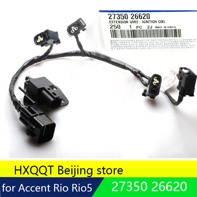 genuine ignition coil wire harness for hyundai for kia accent riogenuine ignition coil wire harness for hyundai for kia accent rio rio5 [2735026620] 2006