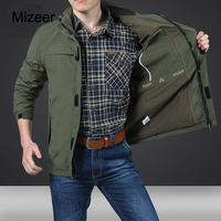 MIZEER Mans Jackets And Coats Winter Brand Casual Tactical Windbreaker Men Autumn Waterproof Flight Pilot Coat