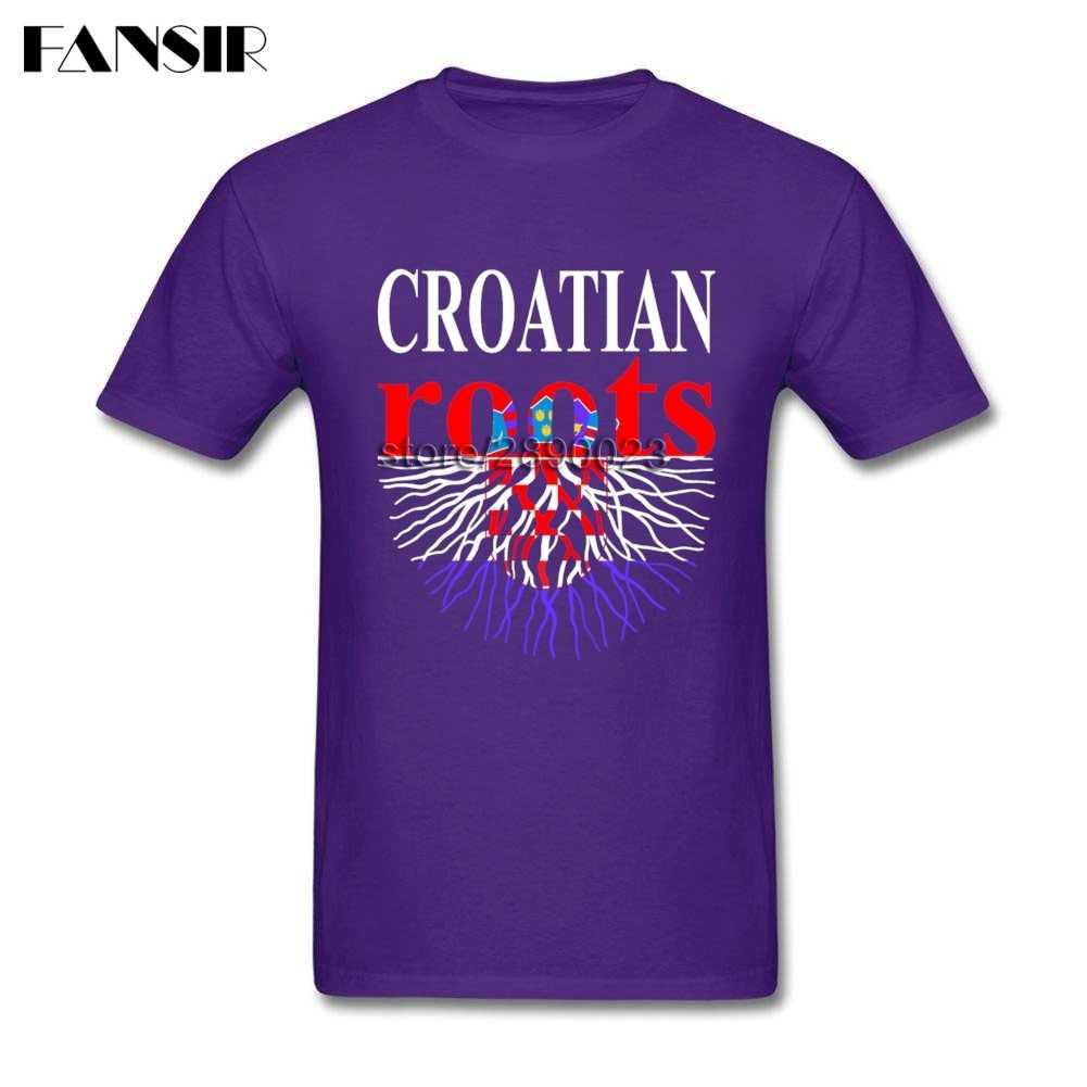 Normal das Raízes da Croácia Croácia Bandeira T Shirt Dos Homens Camisa Dos Homens T de Algodão de Manga Curta Crewneck Tops Tee