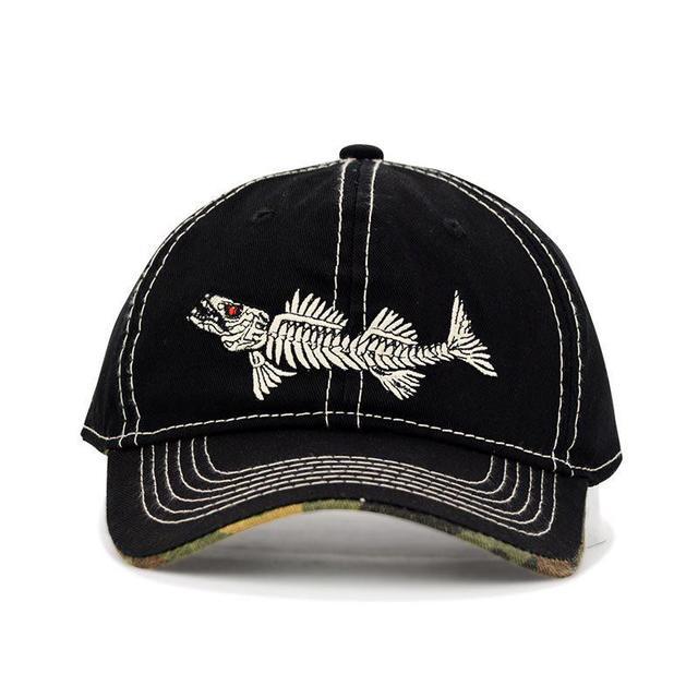 8c624f1da01 High Quality Fashion Dad Hat Branded Baseball Caps Men Women Summer Sunshade  Embroidery Fish Bone Hip