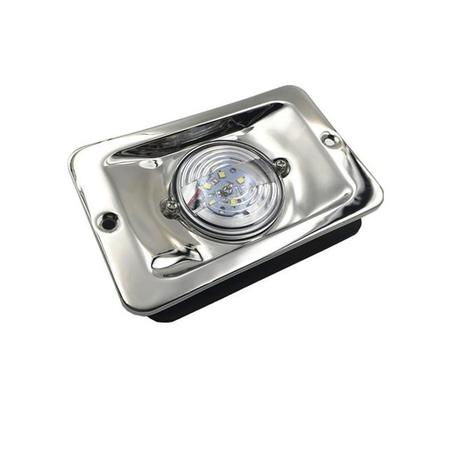 12 В, светодиодный квадратный задний фонарь из нержавеющей стали для морской лодки, яхты