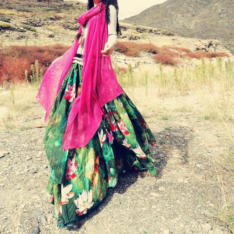 Ingyenes házhozszállítás 2019 virág nyomtatás hosszú - Női ruházat - Fénykép 4
