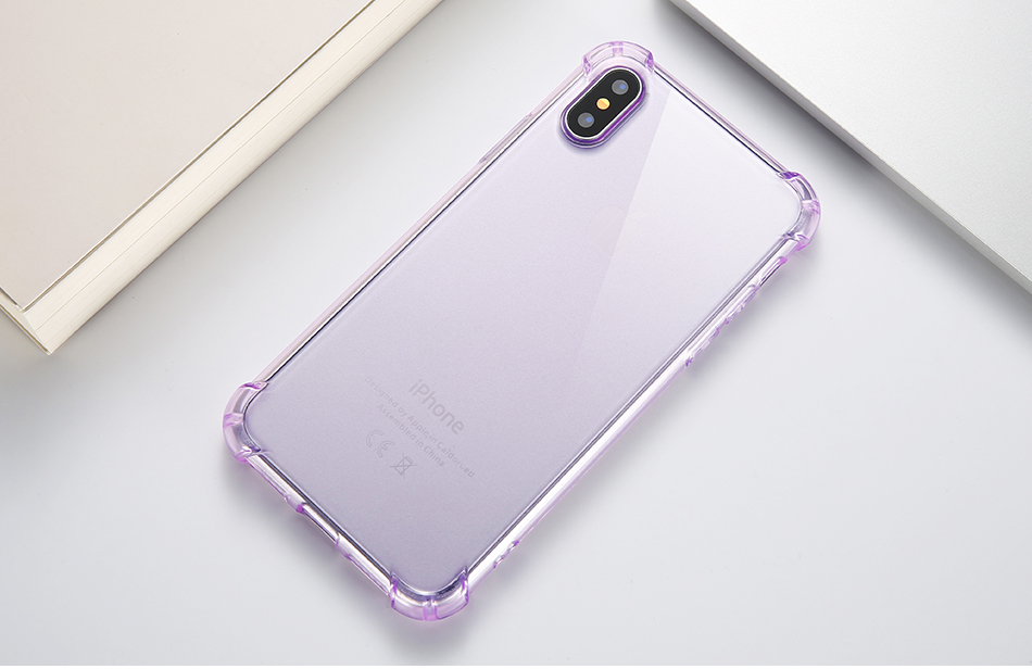 Anti-knock Clear Silicon Shockproof Cover with TPU iPhone Case 12