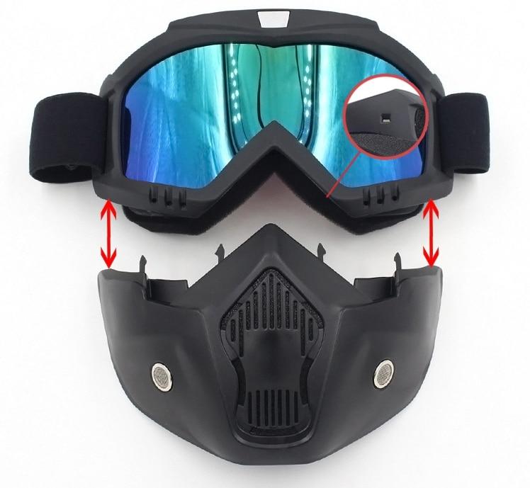 4f69a523cd Compre Gafas De Moto Gafas Máscara Visor Ski Snowboard Motocross ...