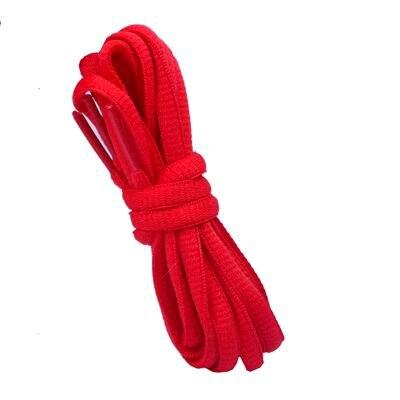 """100 см/3"""" овальные плоские шнурки Шнурки кроссовок 24 цветов для выбора - Цвет: No 3 red"""