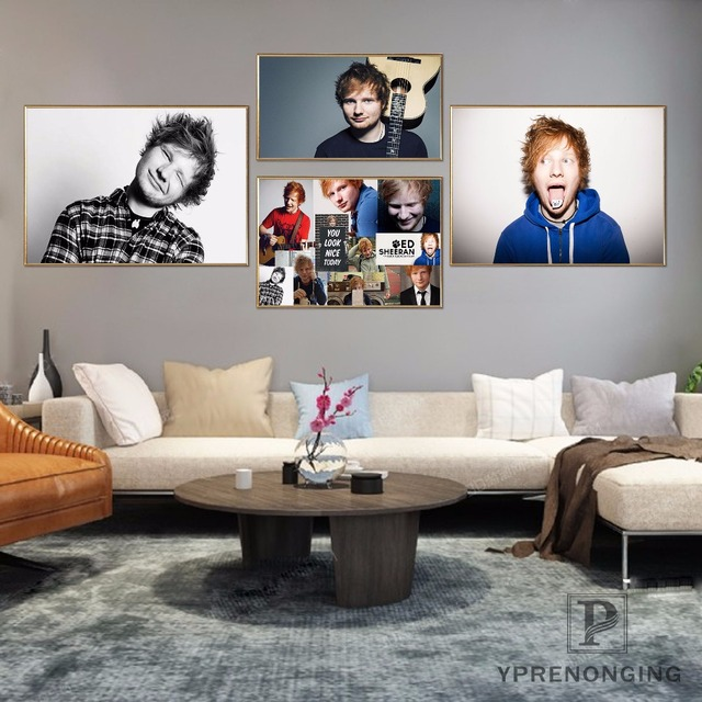 Canvas Poster Silk Fabric Ed Sheeran Custom Hd Home Decor Retro Clic Vintage Movie Print