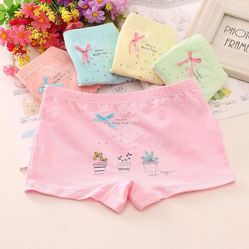 Baby Girls 4pcs/pack panties shorts Fashion Baby Underwear Cotton Panties For Girls Kids Short Briefs Children Underpants 3