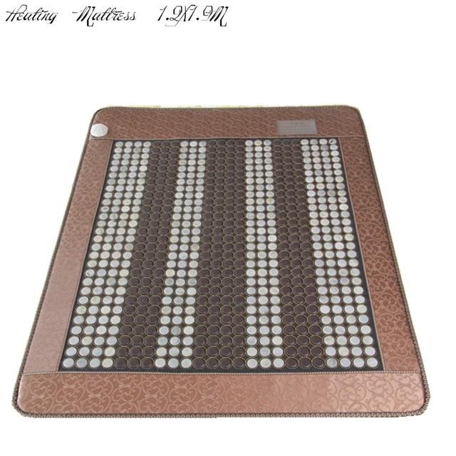 2015 Infrared heat mattress Natural tourmaline heat mattress jade physical therapy mat heat Free shipping 1.2X1.9M