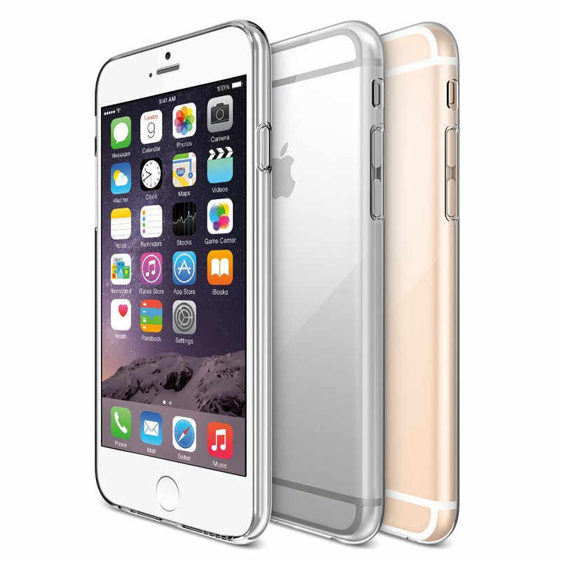 شفافة لينة حقيبة لهاتف أي فون 11Pro X XR XS ماكس 8 7 6 6s زائد 5 5S SE 5C 4 4S TPU حالات سيليكون واقية غطاء للأكمام حالة