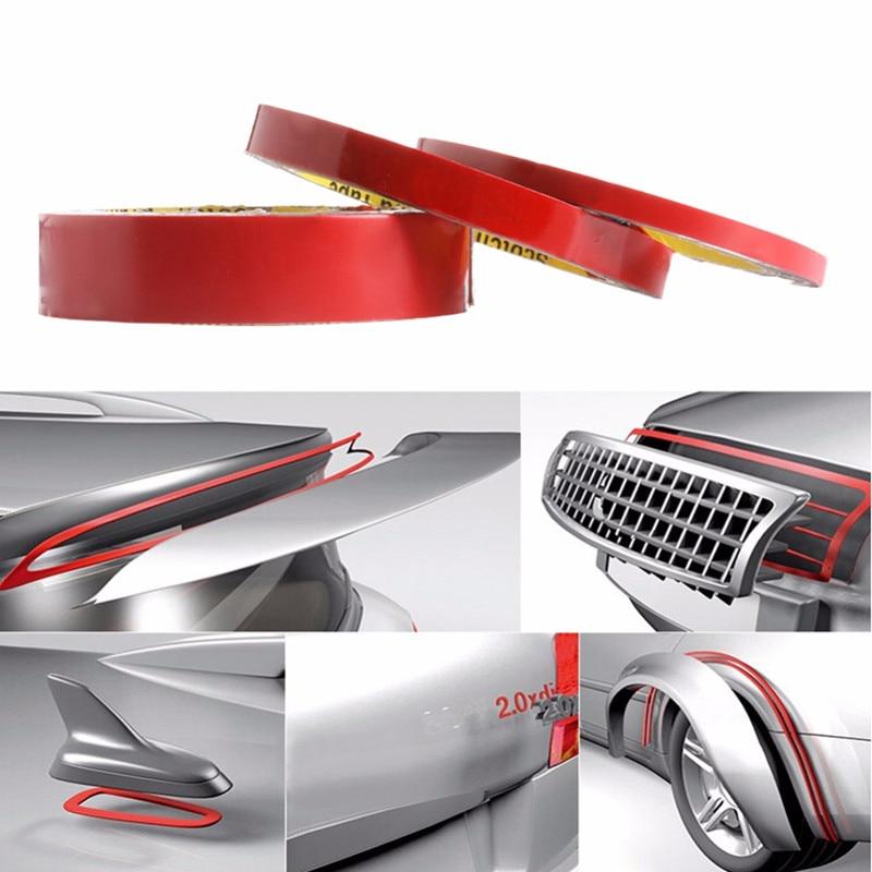 2 unids / lote cinta adhesiva de espuma acrílica de doble cara 6/10/20 mm * 3M Auto esponja especial esponjas pegamento calcomanías de coches decoración