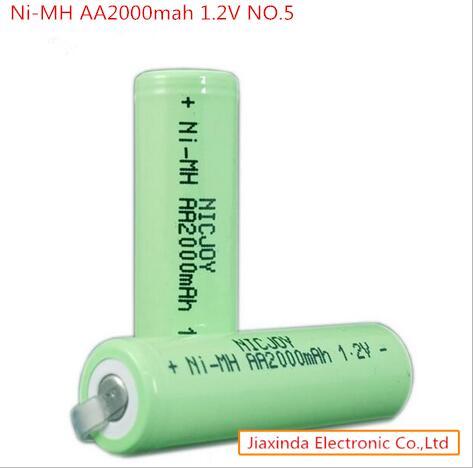 Prix pour AA2000mah 1.2 V AA 2000 mah 1.2 V Rechargeable batterie AA2000mah1.2V NO 5 Ni-MH NiMH batterie witrh jambe 10 PCS/lot