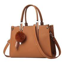 Shoulder Bag For Women with Vintage Hairball