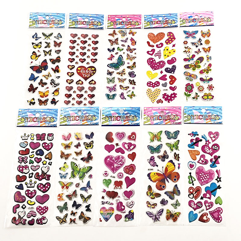 10Sheets Different 3D Cute Anime Stickers Toys Funny Toy For Kids On Notebook Phone Laptop New