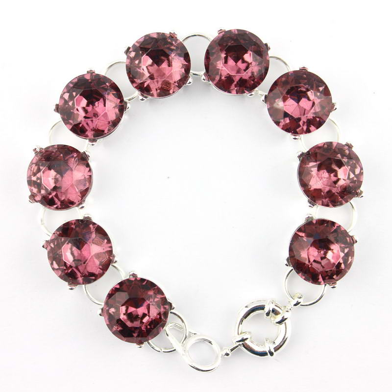 ZWPON Nyankomst 15 MM Tone 9 Dot Crystal Armband & Armband Mode smycken för kvinnor Crystal Button Station Armband