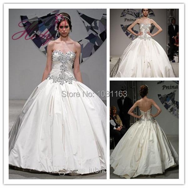 641116bb8d142 Modern Hijab Style Wedding Dresses Ebay Ball Gown vestido madrinha  casamento Sweetheart Beading Taffeta Bridal Gown 2015
