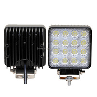 2pcs 48W LED Work Light Flood Driving Lamp For Car Truck Trailer Offroads Boat 4WD 4x4