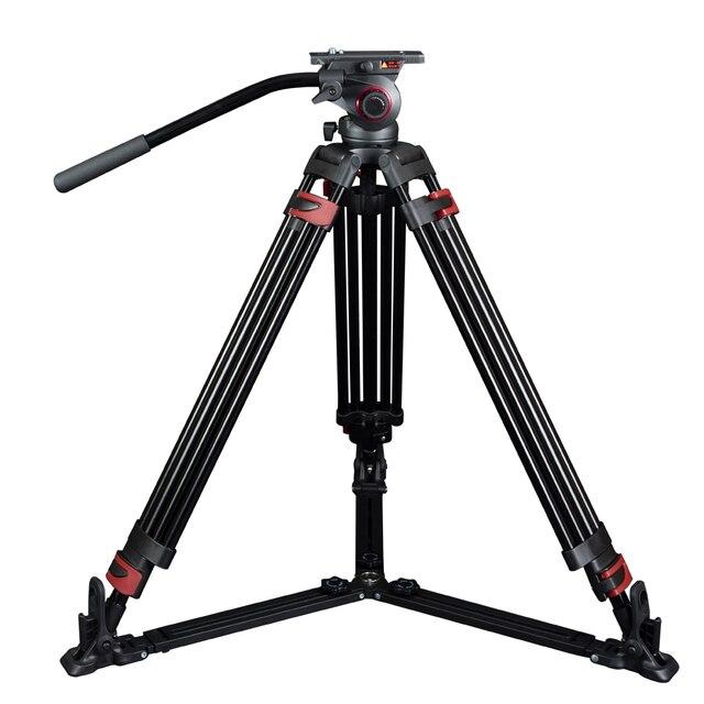 Miliboo MTT609A Портативный Алюминиевый Штатив для Профессиональной Видеокамеры/Видео Камеры/DSLR Штатив Стенд, с Гидравлическим Мяч Головой