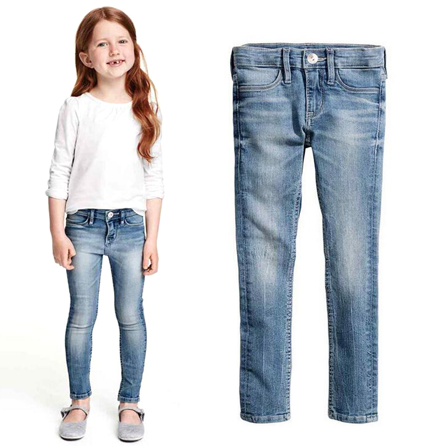 Girl soft jeans Little Girl skinny jeans High quality spring autumn kids  clothes baby girl trousers children jeans for girls - Girls Blue Jeans Promotion-Shop For Promotional Girls Blue Jeans