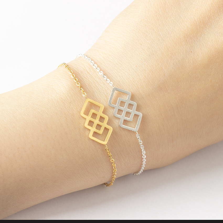 Girlfriend Birthday Gift Ideas Geometric Link Chain Stainless Steel