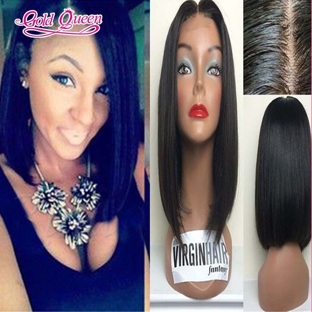new arrival middle part short bob wig peruvian hair glueless lace front bob wig/full lace human hair wigs 150 density baby hair
