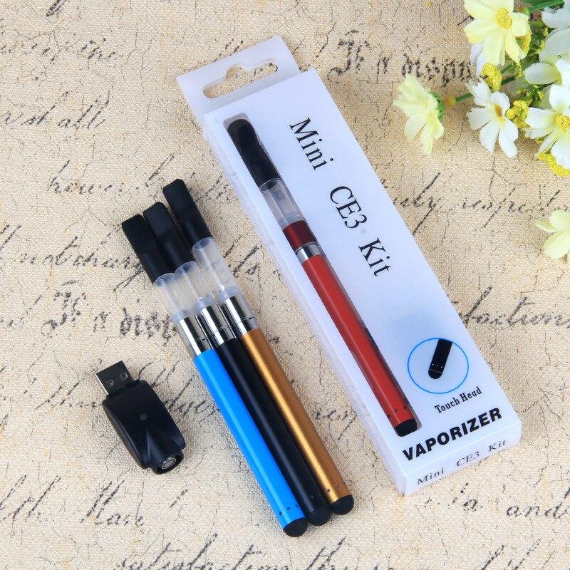 10 pièces BOURGEON tactile stylo blister kit vape stylo CBD huile 1 ml cartouche de vaporisateur d'atomiseur stylo CE3 atomiseur bourgeon tactile batterie e cig kits