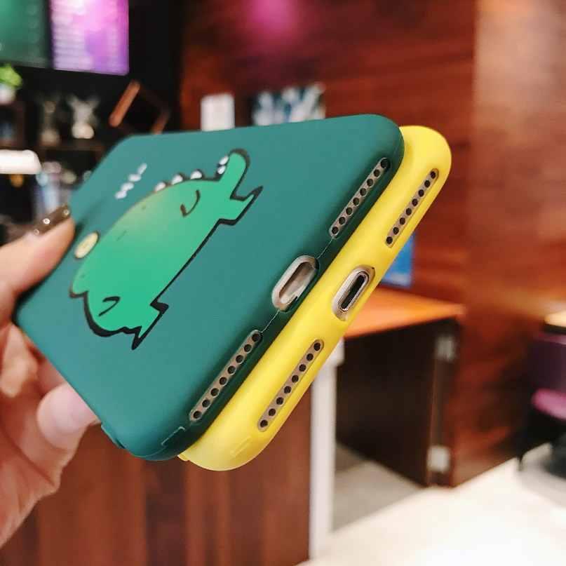 Dinossauro bonito Dos Desenhos Animados engraçado brinquedos telefone soft case para iphone 5 5s 6 6s 7 8 plus X XR XS MAX capa casos coque para iphone xs xr