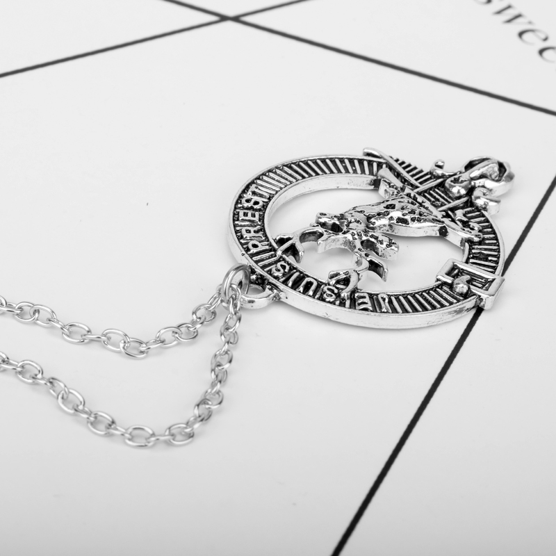 New Arrival Female Elegant Neklace Jewelry Je Suis Prest Outlander Scottish Kilt Deer Pendant Choker Necklace Charms Pendants
