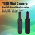 T189 Mini Camera Over 5.5 Hours Working Time Micro Kamera 12MP Full HD 1080P Pen Camera Voice Recorder Digital Video Camera DVR