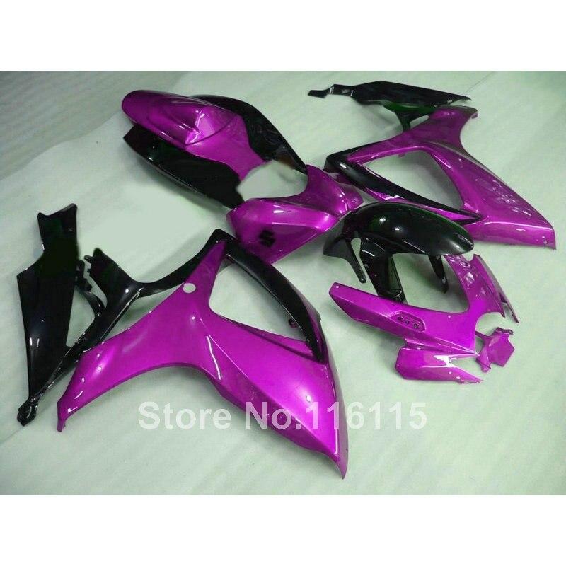 Injection mold  fairing kit for SUZUKI GSXR 600 750 K6 K7 2006 2007 GSXR600 GSXR750 06 07 purple black  fairings X594