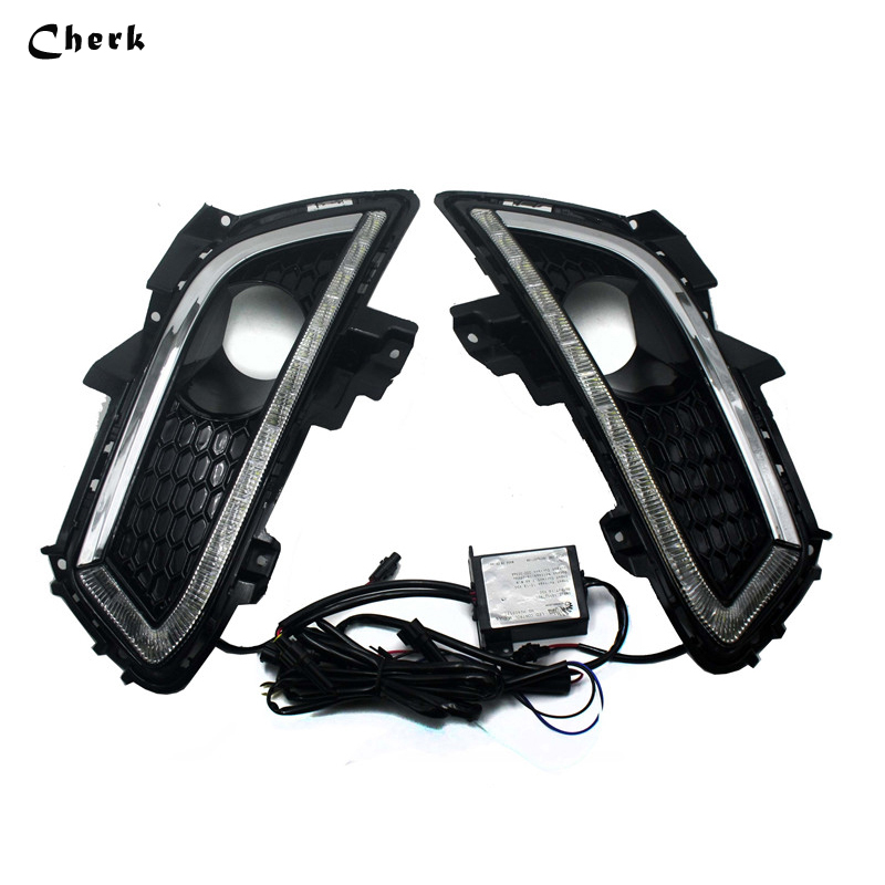 For Ford Mondeo Fusion 2013 2014 2015 2016 LED DRL Day Light Daytime Running Light Waterproof Fog Lamp Free shipping 2x led drl driving daytime running day fog lamp light for ford mondeo 2011 2012 2013