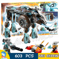 603pcs Maula's Ice Mammoth Stomper Detachable Flyer 10297 Model Building Blocks Kids Children Toys Bricks Compatible with Lego