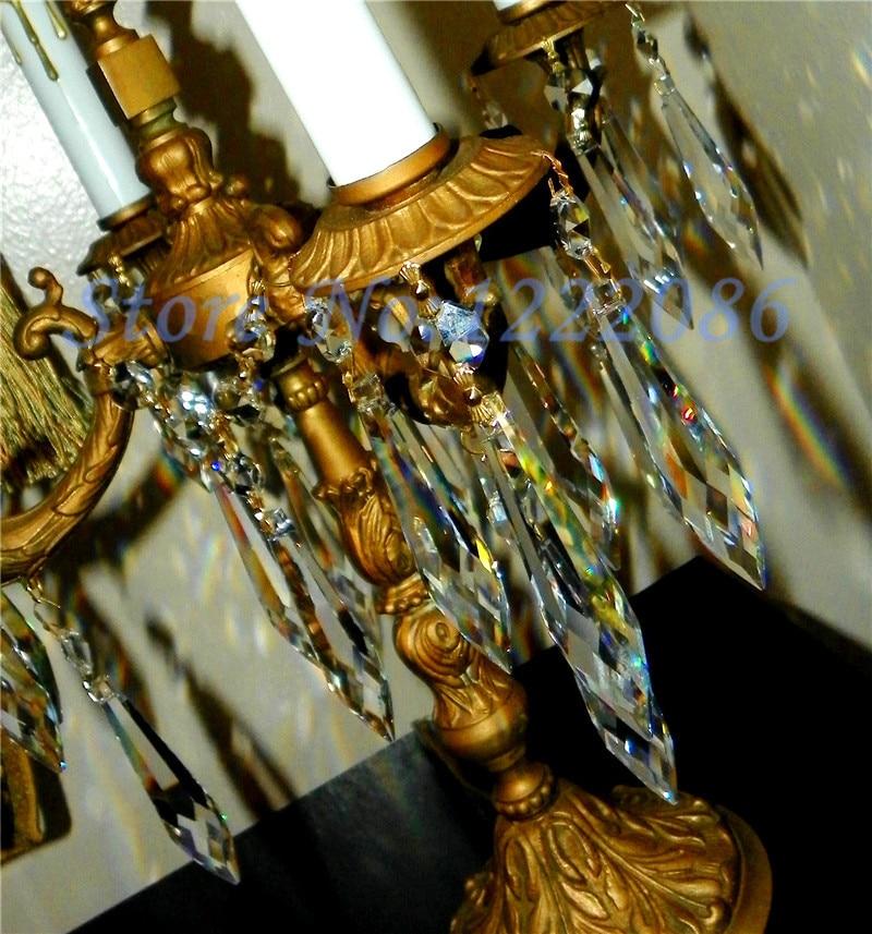 10Pcs 76mm French U drop Crystal Glass Prism oil kerosene Lamp ...