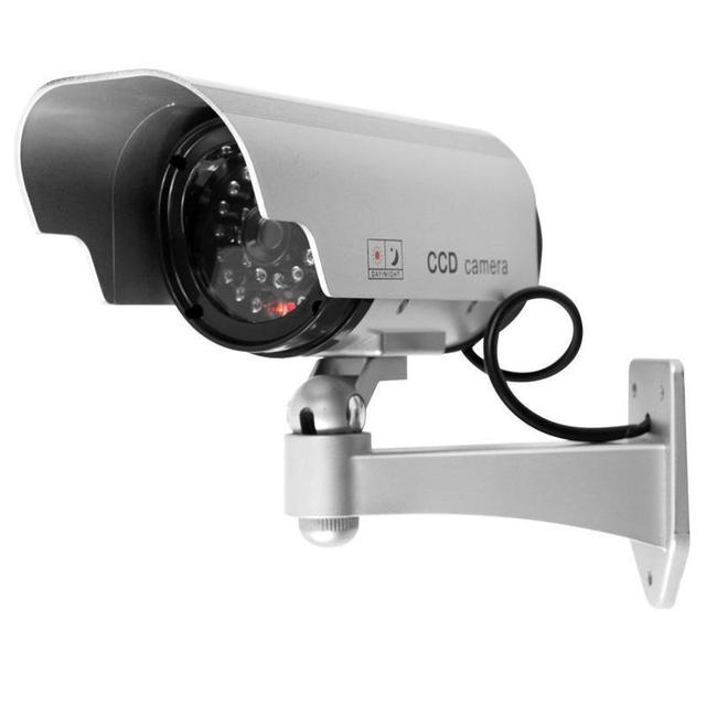Fake camera Solar powered indoor outoodr Dummy security camera Bullet cctv camera surveillance camaras de seguridad #6