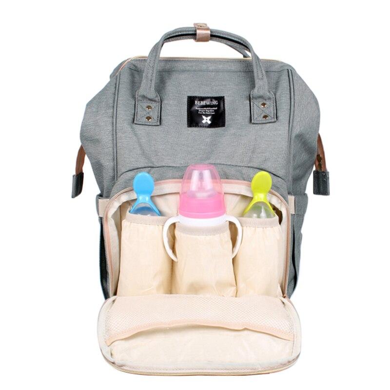 Windel Taschen Mode Mumie Mutterschaft Baby Pflege Windel Tasche Marke Große Kapazität Trocken Nass Designer Reise Rucksack Pflege Windel