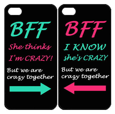 Best Friend BFF case for iPhone 4s 5s SE 5c 6 6s iPod